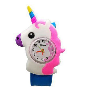3D Unicorn Watch & Silicone Coin Purse for the Kids-Pink, Blue or White Helps Rescued Animals, Yay!