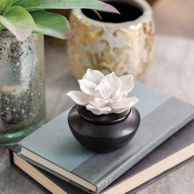 Porcelain Airome Diffuser with Peppermint Oil - Gardenia-The Pink Pigs, A Compassionate Boutique