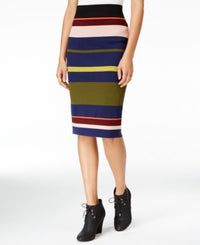 RACHEL ROY Womens Navy Color Block MIDI Pencil Skirt Size: M-The Pink Pigs, A Compassionate Boutique