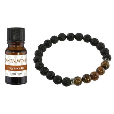 Aromatherapy Lava Stone Bracelet with Essential Oil-The Pink Pigs, A Compassionate Boutique