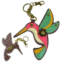 CHALA - HUMMINGBIRD- KEY FOB-The Pink Pigs, A Compassionate Boutique