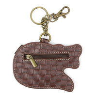 CHALA - ALLIGATOR - KEYCHAIN/KEY FOB/COIN PURSE-The Pink Pigs, A Compassionate Boutique