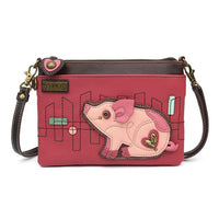 CHALA PINK PIG -MINI CROSSBODY PURSE-The Pink Pigs, A Compassionate Boutique