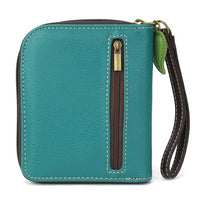 CHALA - DRAGONFLY-ZIP AROUND WALLET -TURQUOISE-The Pink Pigs, A Compassionate Boutique