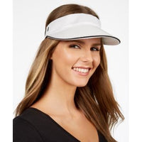 Calvin Klein Textured Knit Visor - Eggshell-The Pink Pigs, A Compassionate Boutique