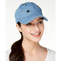 August Hats Womens Charms Denim Baseball Cap (Blue, One Size)-The Pink Pigs, A Compassionate Boutique