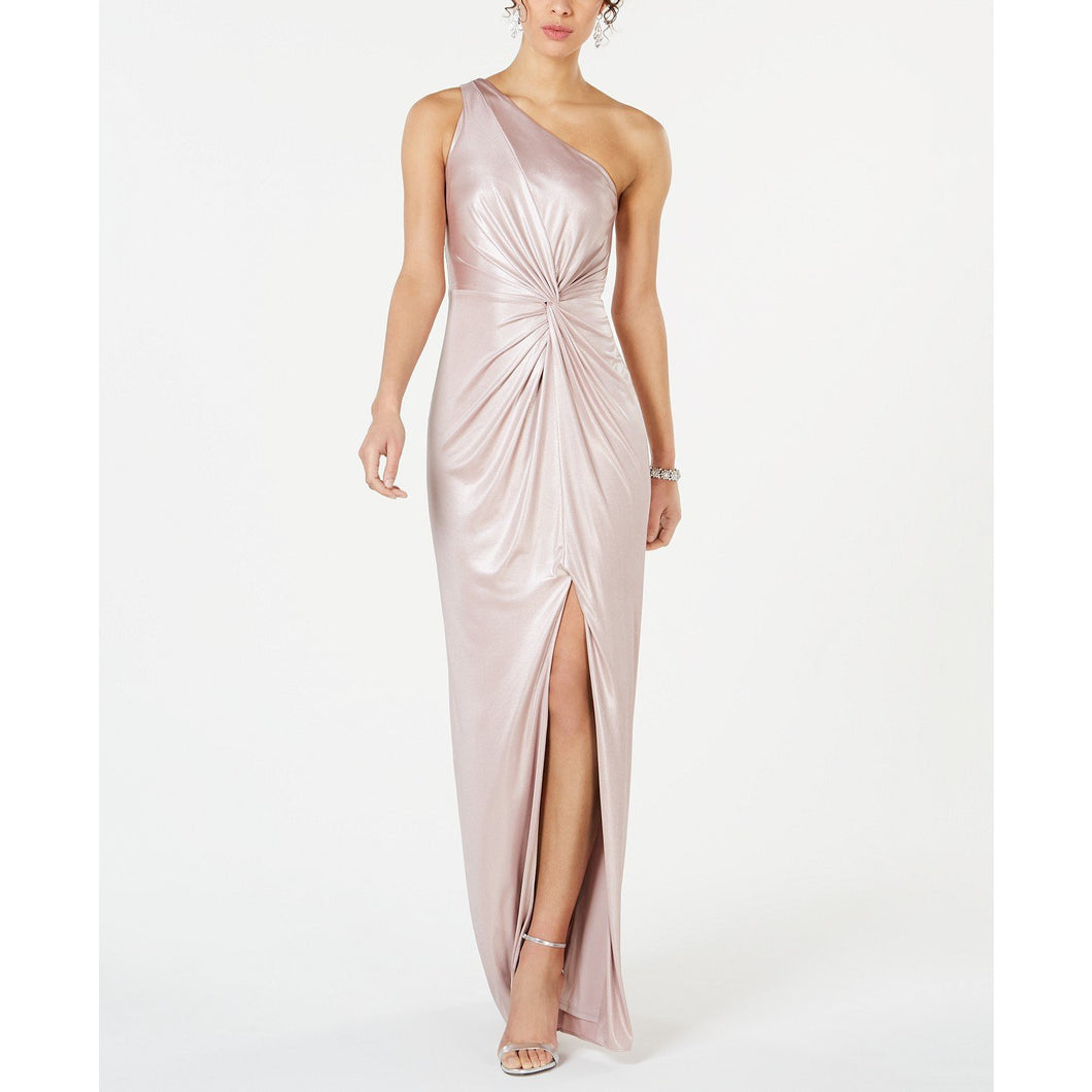 Adrianna Papell Metallic Gown Pink Sz 14