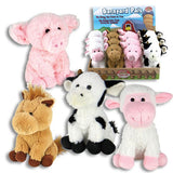 Barn Yard Pals Small Plush Farm Animals that Make Sounds! Pig, Cow, Sheep, Horse-The Pink Pigs, A Compassionate Boutique
