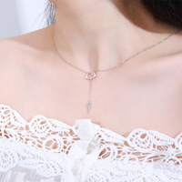 Bat Necklace-Cute flying Bat in Sterling Silver Adorns Your Neck
