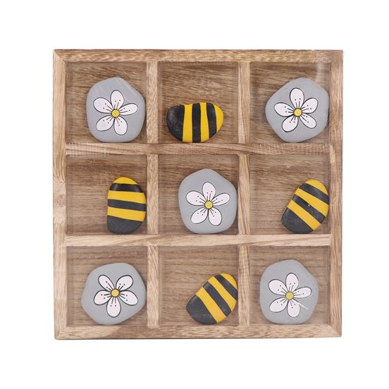 Bees And Flowers Tic Tac Toe - The Pink Pigs, A Compassionate Boutique
