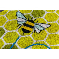 Busy Bee Honeycomb Coir Welcome Mat, Entry Way Rug So Cute!