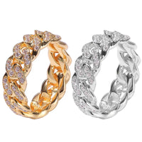 Cuban Link Style Chain Ring in Women's Sizes-Ultra Bling!