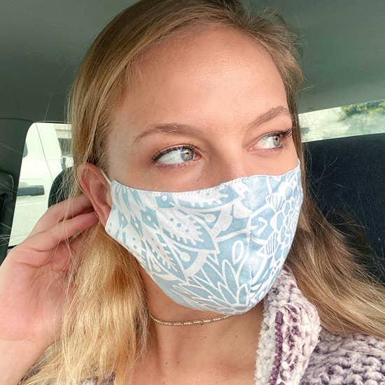Up-cycled Eco Friendly Yoga Style Face Protectors-Handmade by Lotus & Luna - The Pink Pigs, A Compassionate Boutique