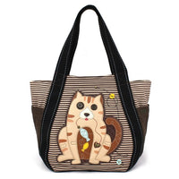 CHALA - CARRYALL ZIP TOTE - CAT GEN II - BROWN STRIPE-The Pink Pigs, A Compassionate Boutique