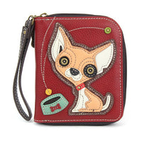 Chala Dog Zip Around Wallets-Carry your cards in dog gone good style!