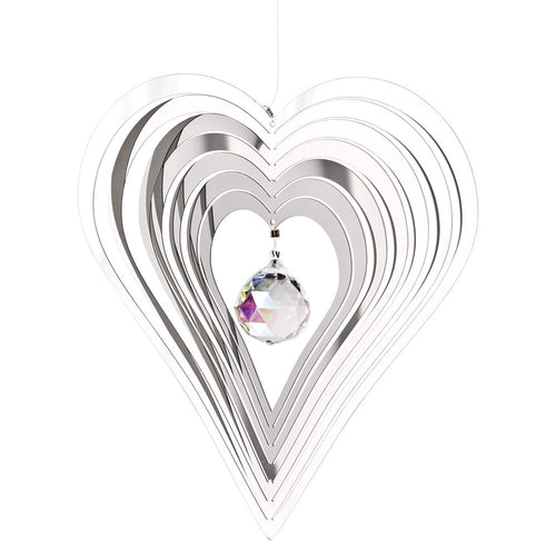 Woodstock Chimes Crystal Heart