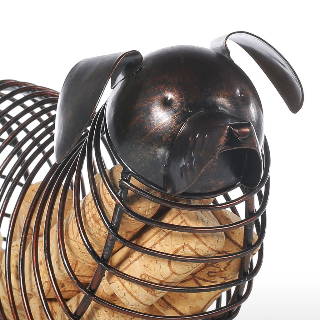 Adorable Dachshund Wine Cork Cage:  Long, Chubby & CUTE!