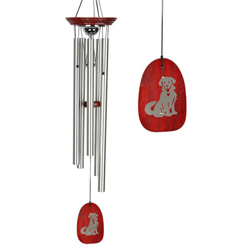Pet Dog or Cat Memorial Wind Chimes with Urn