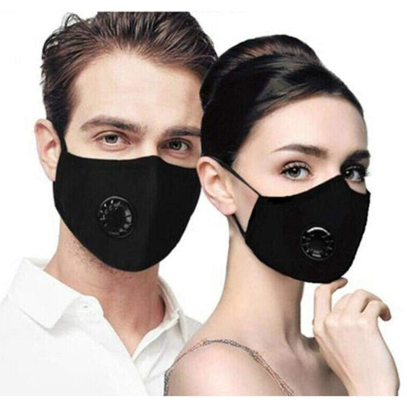 Re-useable Vented Cloth Face Masks Adult and Children Sizes with Replaceable Carbon Filters - The Pink Pigs, A Compassionate Boutique