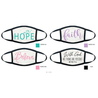 Faith Face Protector! Christian Friends and people of faith: Re-useable Cloth Face Protector-Made in the USA!-The Pink Pigs, A Compassionate Boutique