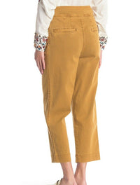 Free People, Sand, Seamed like the real, belted capri jeans Orig $128