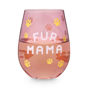 Blush Fur Mama Stemless Wine Glass