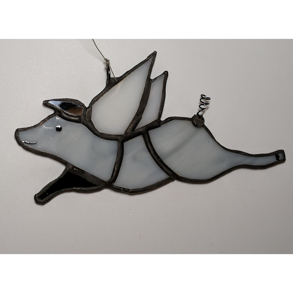 Handmade Stained Glass Piggy Suncatchers, so cute!
