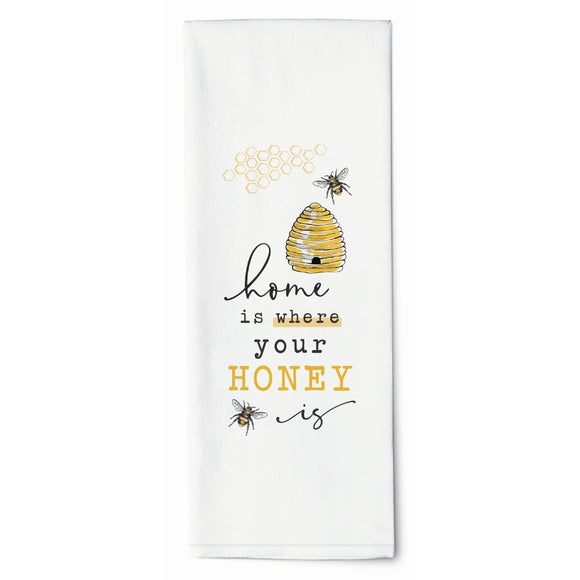 Home is Where Your Honey is Tea Towel P Graham Dunn - The Pink Pigs, A Compassionate Boutique