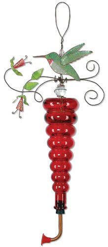 Hummingbird Feeder Metal Art Porch, Patio or Garden Decoration - The Pink Pigs, A Compassionate Boutique