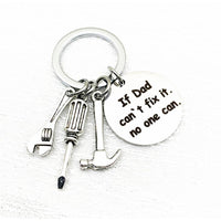 Keychains for Father's Gift-First Love and If Dad Can't Fix It Cute Gifts for Dads Stainless Steel-The Pink Pigs, A Compassionate Boutique