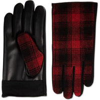 Men's Isotoner Sleek Heat Faux Leather or Red Plaid Driving Gloves-The Pink Pigs, A Compassionate Boutique