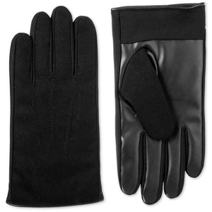 Men's Isotoner Sleek Heat Faux Leather or Red Plaid Driving Gloves