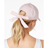 INC International Concepts I.N.C. Bow-Back Baseball Cap - Blush-The Pink Pigs, A Compassionate Boutique