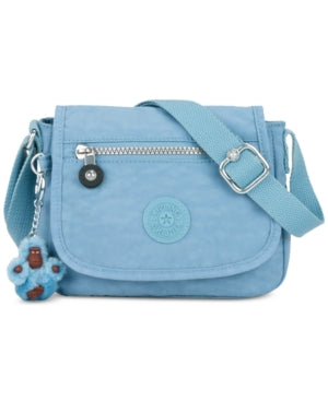 Kipling Sabian Mini Crossbody Light Blue Rubber Monkey