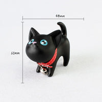 Kitty Cat Silicone Keychain with Bell So Cute!  5 Varieties