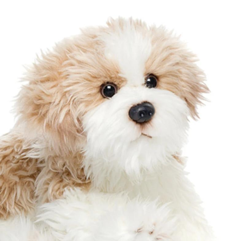 Cute, Lifelike Maltipoo Plush Dog - The Pink Pigs, Fine Jewels and Gifts for People who Love Animals!