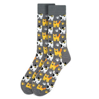 Men's Kittens Novelty Parquet Crew Socks