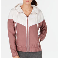 Womens Nike Sportswear Windrunner Hooded Jacket - Smokey Mauve - Medium-The Pink Pigs, A Compassionate Boutique