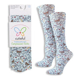 Knee High Compression Socks that are CUTE! Feel Good & Look Cute Too!-The Pink Pigs, A Compassionate Boutique