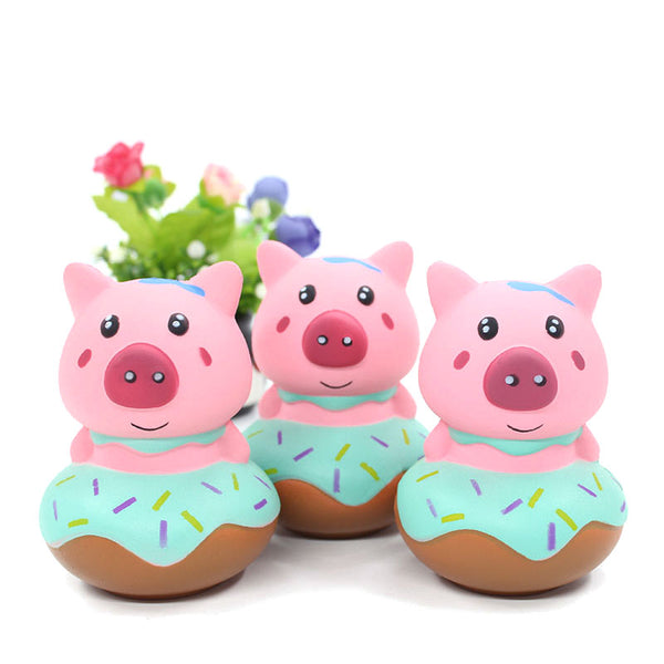 Pig in a Donut Squishy Stress Reliever So Cute! Extra Sprinkles and NO Calories!-The Pink Pigs, A Compassionate Boutique