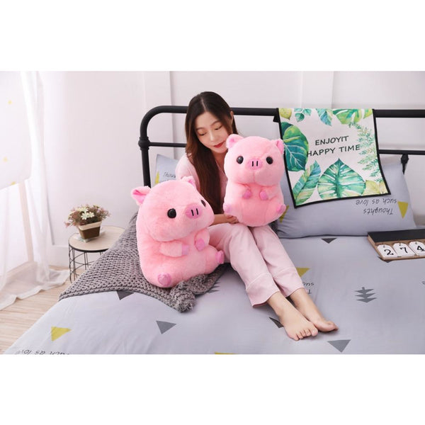BIG Plush Piggy Pillow So Cute and Huggable!-The Pink Pigs, A Compassionate Boutique