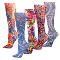 Plus Size Pretty Compression Socks, Look Cute while helping rescued animals!-The Pink Pigs, A Compassionate Boutique