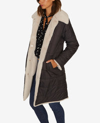 Sanctuary 2 Be Real Reversible Lightweight Puffer Coat Faux Fur XS-The Pink Pigs, A Compassionate Boutique