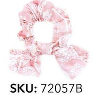 Upcycled Hair Scrunchies with Small Removable Bow Eco-Friendly Hand-Sewn-The Pink Pigs, A Compassionate Boutique