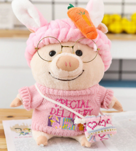 Plush Piggy Dress Up Dolls, 3 Sizes, SM to LARGE, Cutest Piggy EVER! - The Pink Pigs, A Compassionate Boutique