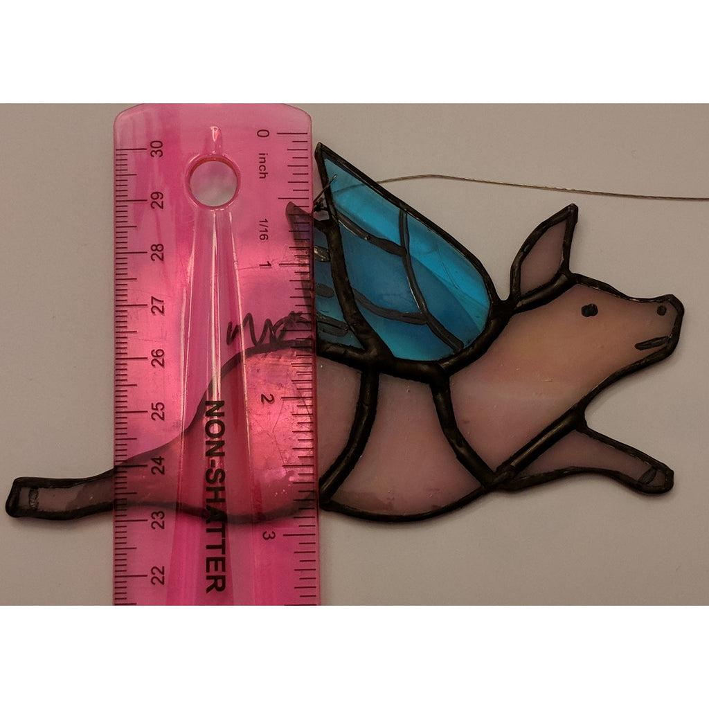 Handmade Stained Glass Piggy Suncatchers, so cute! - The Pink Pigs, Fine Jewels and Gifts for People who Love Animals!