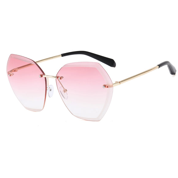 Rimless BIG Sun Glasses-Oh Beautiful YOU!  Protect Your Peepers 400UVB