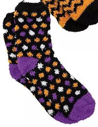 Trick or Feet Fuzzy Halloween Socks in an Ornament Ball-Perfect Gift!  Womens