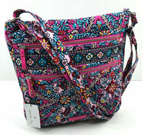 Vera Bradley Iconic Triple Zip Hipster Crossbody in Kaleidoscope-The Pink Pigs, A Compassionate Boutique