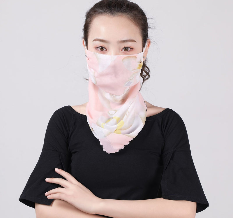 Silky Chiffon Face Scarves Classy Protection for Women, Feminine, elegant face coverings - The Pink Pigs, A Compassionate Boutique